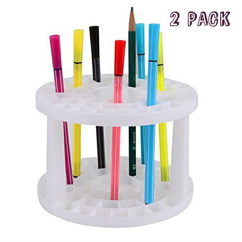 Paint Brush Holder Plastic Round Photos