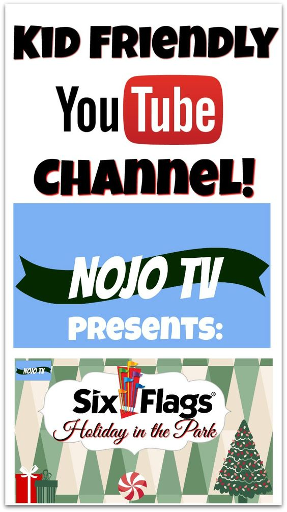 Youtube channel for kids. See  the Christmas lights and light show at Six Flags America.