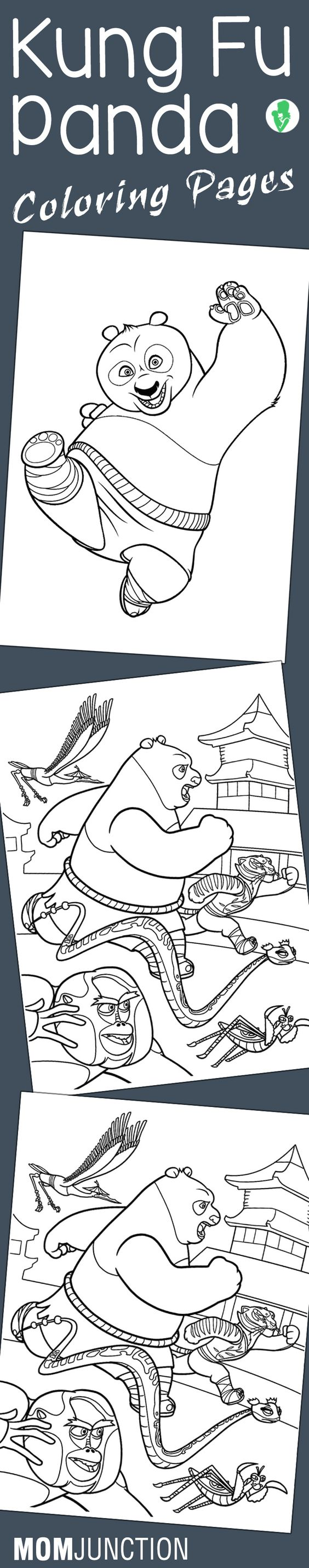 Bu buy colouring in books online - 10 Cute Kung Fu Panda Coloring Pages For Your Little Ones