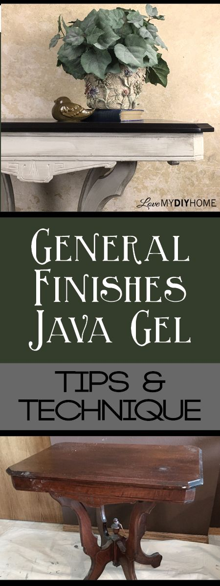 Java Gel is the newest fad in furniture refinishing - It's so easy! This post…