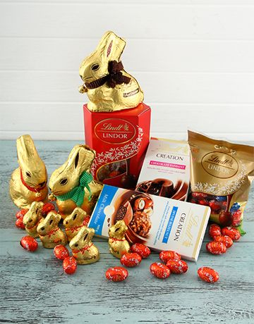 14 best easter gifts and hampers images on pinterest easter gift buy lucious lindt easter hamper online netgifts negle Images