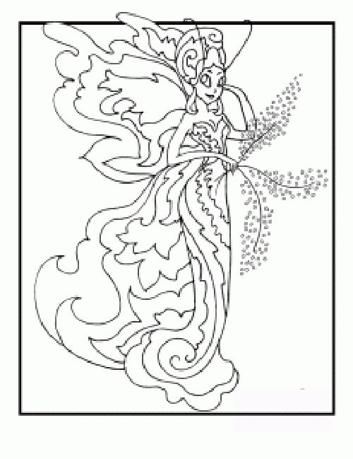 exotic fairy coloring pages free printable fairies coloring pages fullcoloringpages fairy. Black Bedroom Furniture Sets. Home Design Ideas