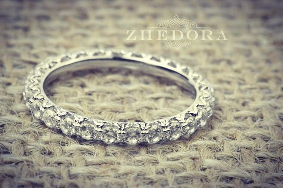 Something we liked from Instagram! Simple yet sophisticated. #bridalband #diamondband #diamondband #eternityring #diamonds #wedding #jewelrydesign #handmade #3dprinter by zhedora check us out: http://bit.ly/1KyLetq