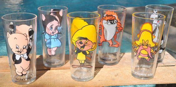 Vintage 1973 Pepsi Looney Toons Glasses  Speedy by TumptOver, $48.00: