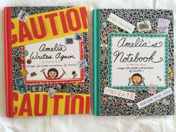 Amelias Notebook Lot 2 Hardcover Books Marissa Moss Amelia Writes Again Journal