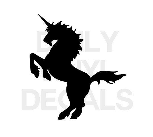 Unicorn Silouhette etc Adhesive Vinyl Decal Sticker Car//Wall//Laptop//Window