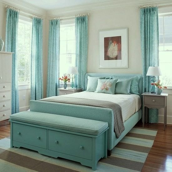 pictures of grey and teal rooms | more pattern and texture mixed