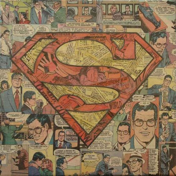Mike Alcantra Creates Artistic Superheroes With the Pages of Books #superhero #art trendhunter.com: Collage Art, Artistic Superheroes, Super Heros, Comic Book, Superman Comics, Superman Stuff, Comic Collage