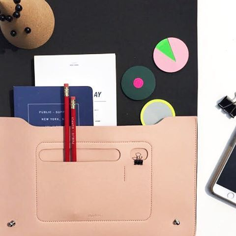 Your new back to school and work gear: Minimal Folio and planners from Poketo, Cork Pencil cone and Color Notes from HAY!