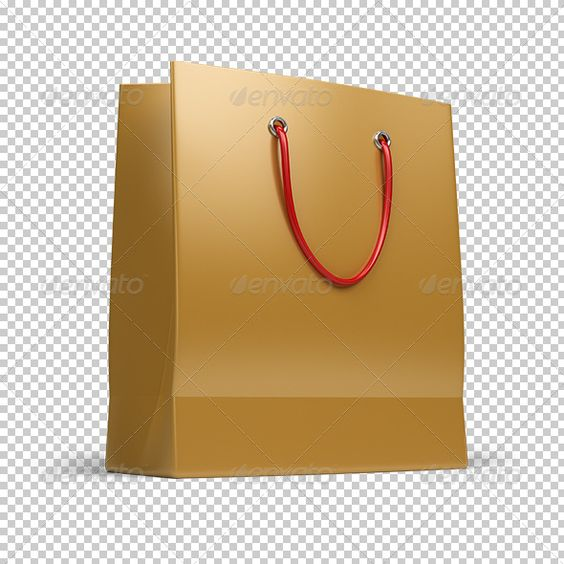 Shopping bag #GraphicRiver Shopping bag. 3d image. Transparent ...