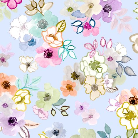 Wild Roses fabric by angelger28 on Spoonflower - custom fabric