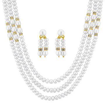 Buy   Enchanting 3 String Button Pearl Set