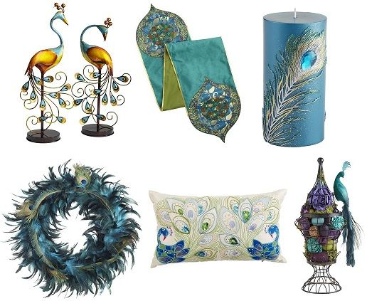 Peacock home decor ideas peacock decor for the home for Peacock feather decorations home