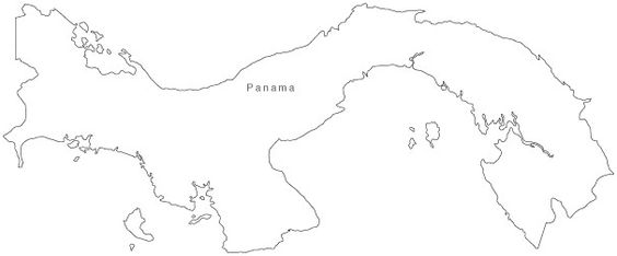 Panama Map - Simple Outline - really want this filled in with the british flag