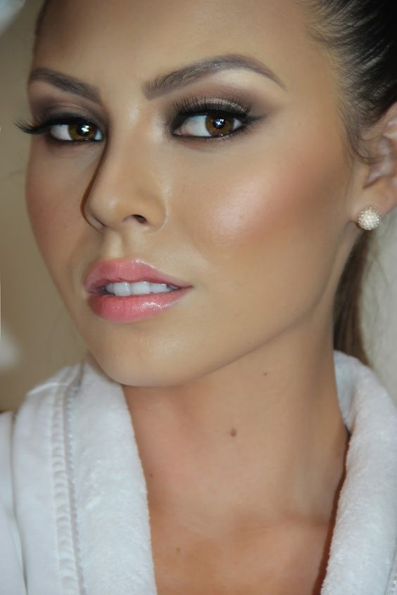 Natural Wedding Makeup For Brown Eyes : Gallery For > Natural Wedding Makeup Looks For Brown Eyes