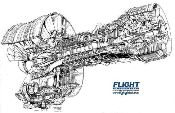 Cf6 50 Engine Cutaway Photo By Davek72 Photobucket