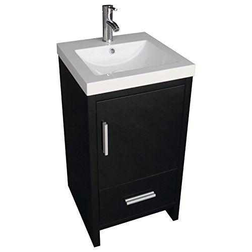 Walcut 18inch Bathroom Vanity Mdf Wood Cabinet Resin Undermount