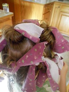 Country Blessings: No Heat Curls: Rag Curl Tutorial