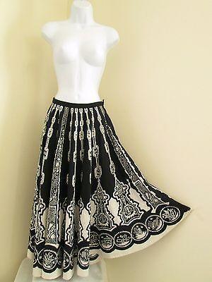 Boho Gypsy SouthWestern Peasant Mexican Long Skirt Sz S Small Full Circle Venus