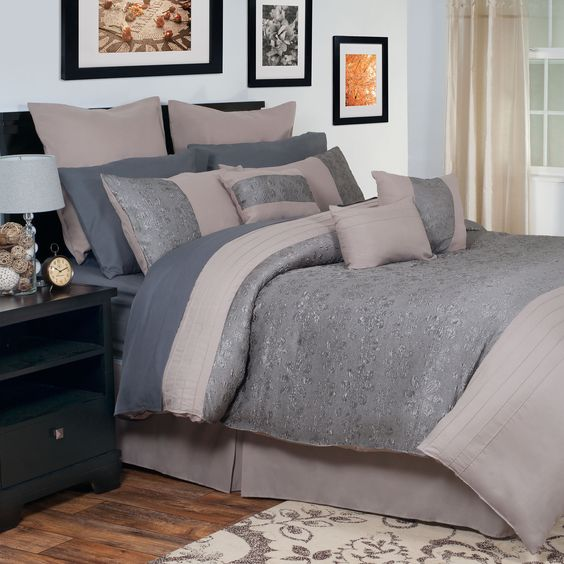 Sophisticated and modern, the Jaime Comforter Set from Windsor Home will compliment any bedroom. Warm neutrals and subtle textures make this bed set inviting and easy to incorporate into most decor.
