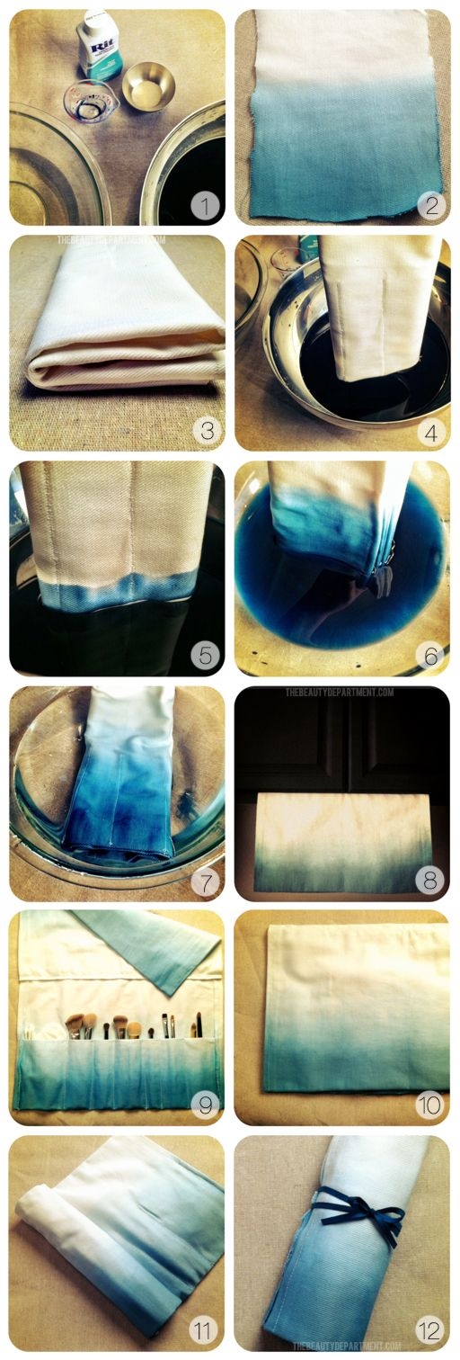 DIY :: Easy dip-dye or ombre dying.: Makeup Brushes, Dye Makeup, Makeup Brush Holders, Dip Dye