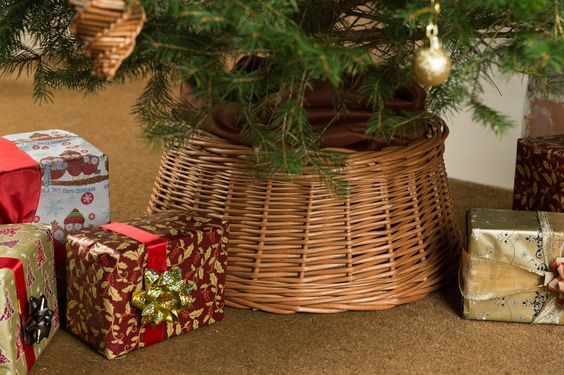 Willow Christmas Tree Skirt available in different sizes from Coates English Willow.