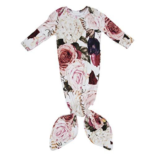 Posh Peanut Newborn Baby Soft Gown for Girls Viscose from Bamboo Infant Layette Swaddle Wear