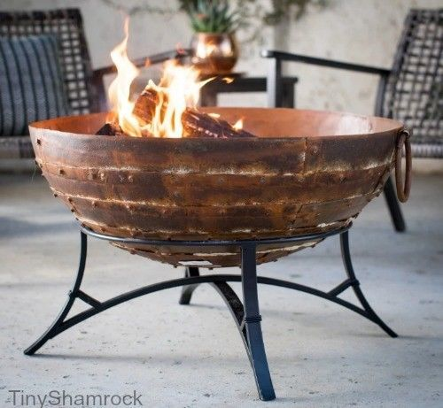 Fire Pit Bowl Cast Iron Wood Burning Cauldron With Stand Patio Backyard Bonfire Iron Fire Pit Wood Burning Fire Pit Fire Pit Backyard