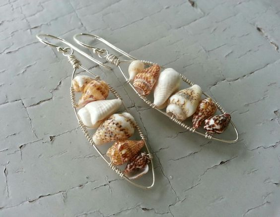 Wire Wrapped Shell Collection — Mejiro by Oona Menezes