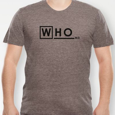 WHO M.D. (Dr Who + House MD) T-shirt by Olechka - $18.00