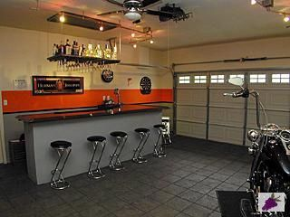 Man-Cave Inspiration - in the Garage! #ManCave