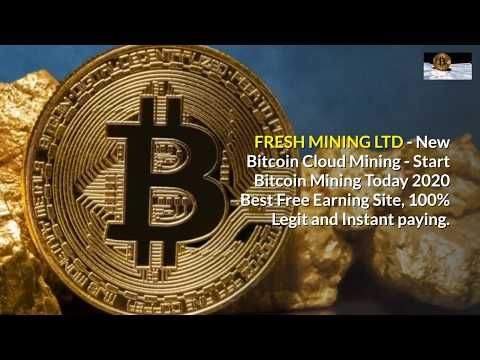 Free Bitcoin Cloud Mining Fresh Mining Ltd New Free Bitcoin Mining Site Youtube Free Bitcoin Mining Cloud Mining Bitcoin