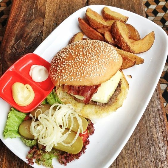 burger - juicy and perfectly cooked beef patty with melted cheese ...