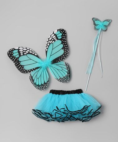 Take a look at this Turquoise Butterfly Tutu Set by Sparkle Adventure on #zulily today!