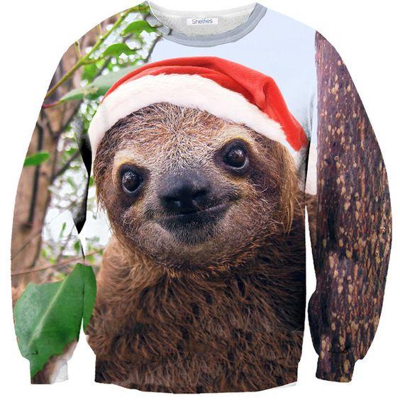 Christmas Sloth Sweater, I think I need this, I also think @Sarah Chintomby Chintomby Chintomby Chintomby Chintomby McCauley needs it too! @Andrea / FICTILIS Gutierrez