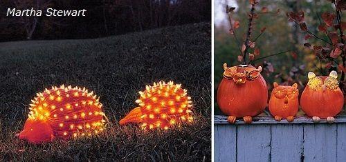 Calabazas decoradas de Martha Stewart