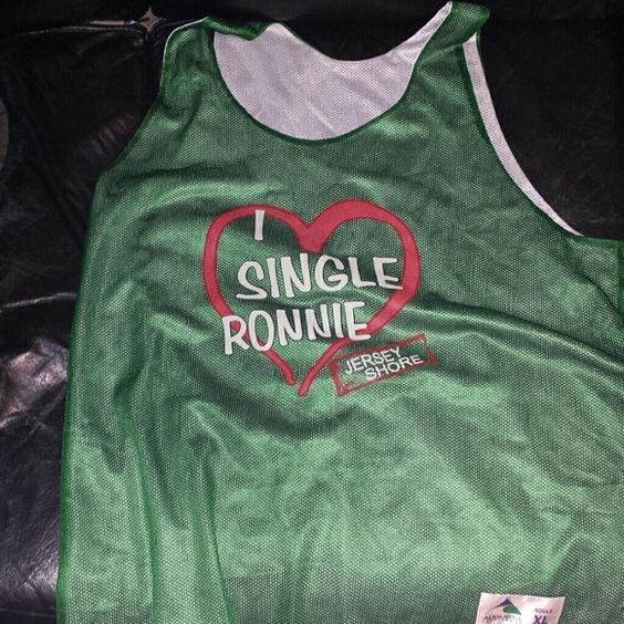 XL i?single Ronnie adult jersey Green and white jersey adult size XL.  For jersey shore lovers and jersey lovers in general. Never worn. Please feel free me to make me an offer! ^_^ looking for a good home to go to. Augusta Sportswear Tops