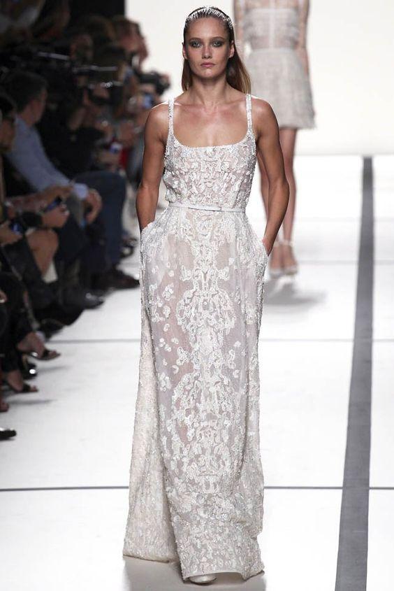 Nova coleção primavera-verão 2014 de Elie Saab. #casamento #vestido #branco #vestidodenoiva #ElieSaab