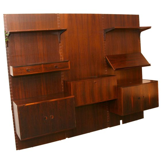Rosewood Cado Storage System | From a unique collection of antique and modern bookcases at https://www.1stdibs.com/furniture/storage-case-pieces/bookcases/
