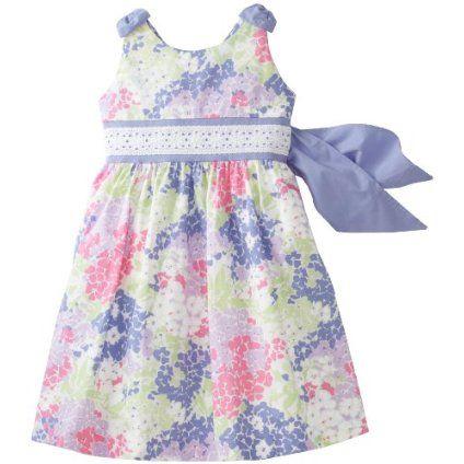 Hartstrings Girls 2-6X Printed Poplin Dress