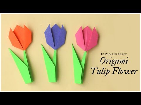 Create Springtime Art with Simple Origami Tulips | Origami tulpe ... | 360x480