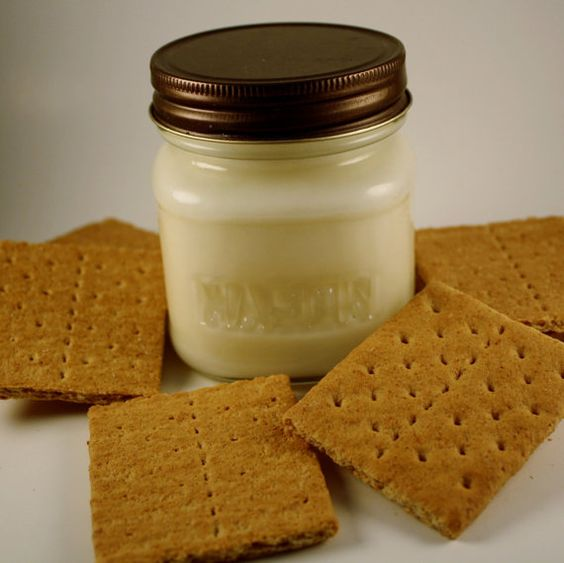 Soy Jar Candle  Graham Cracker Crust Heavily by Blackberrythyme, $8.00