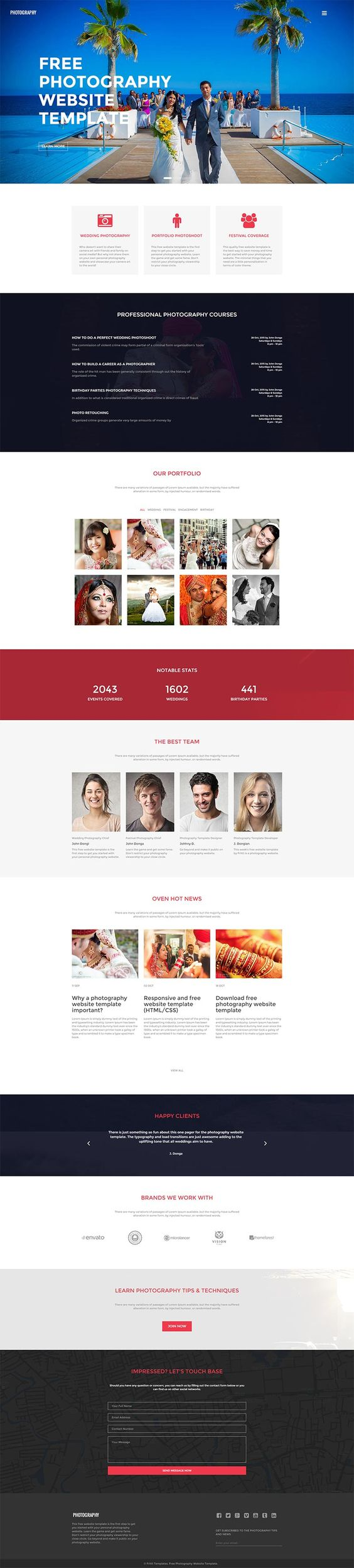 Photography website template html template pinterest photography website template html template pinterest photography website templates free photography website and photography website pronofoot35fo Gallery