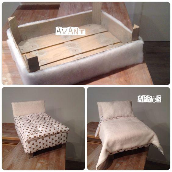 lit de poup e maison de poup e pinterest. Black Bedroom Furniture Sets. Home Design Ideas