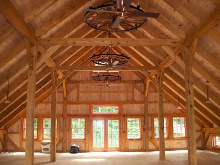 Wood Barn Kit Pictures - Timber Frame Kit Homes Gallery - Post and Beam - A Frame House Kits