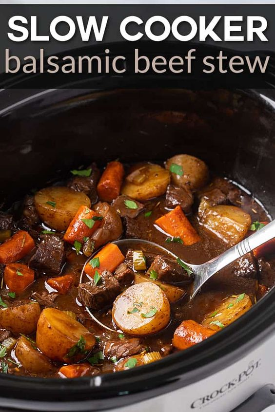 Slow Cooker Balsamic Beef Stew