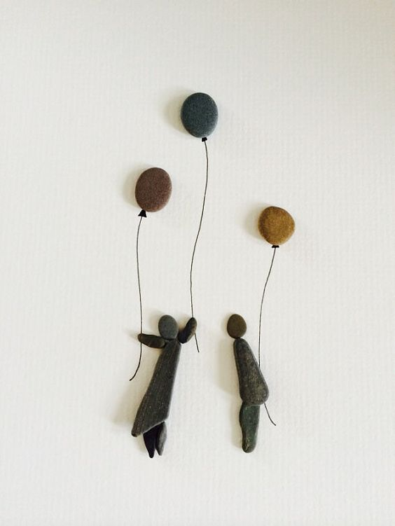 Sharon nowlan original work with pebbles by PebbleArt on Etsy…                                                                                                                                                     Más