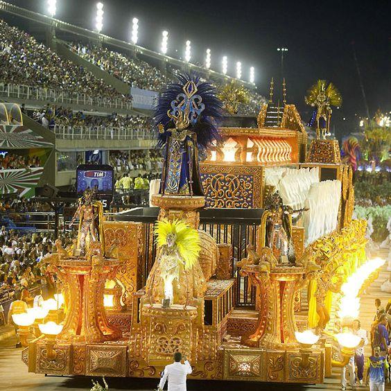 Unidos da Tijuca Samba School in Sambadrome - Rio de Janeiro, Brazil