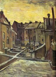 Backyards of old Houses in Antwerp in the Snow - Vincent Van Gogh