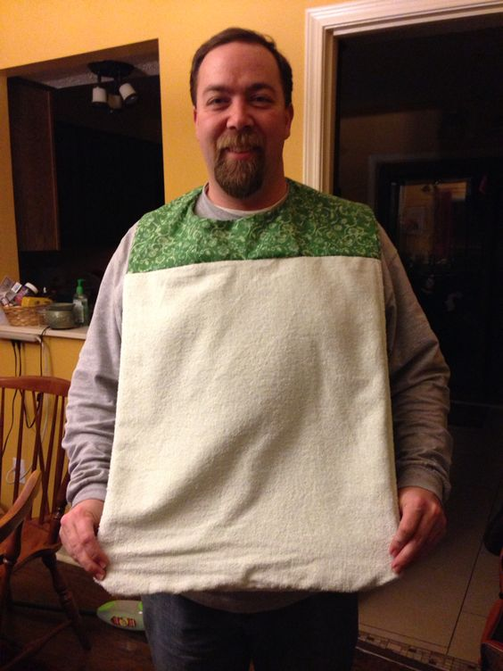 Adult Bib I Made Without Pattern Sewing Pinterest